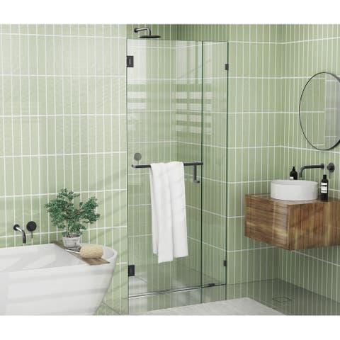 """Glass Warehouse 78"""" x 42.5"""" Frameless Towel Bar Shower Door - Wall Hinge"""