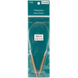"Bamboo Circular Knitting Needles 16""-Size 10/6Mm"