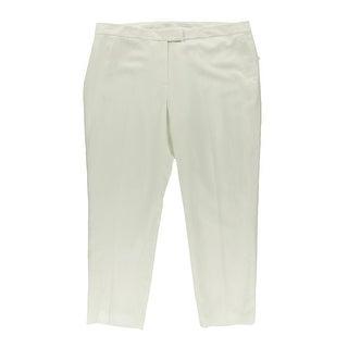 Anne Klein Womens Linen Blend Solid Dress Pants