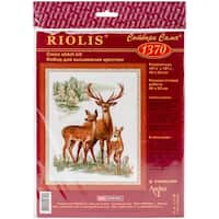 "Deers Counted Cross Stitch Kit-15.75""X19.75"" 14 Count"