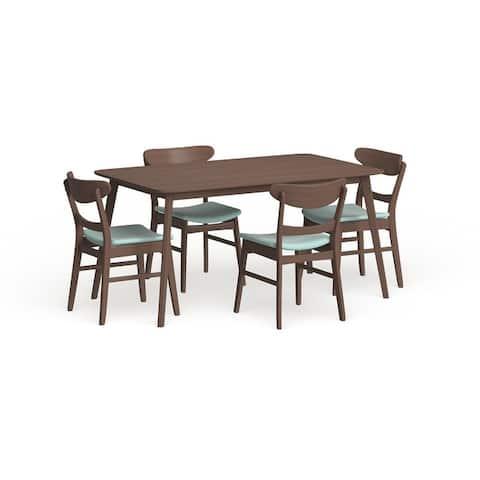Carson Carrington Ballerup Mid-century Rectangle 5-piece Dining Set