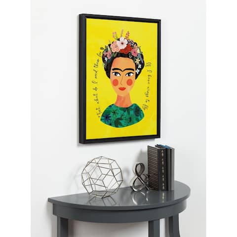 DesignOvation Sylvie Frida Framed Canvas by Mia Charro