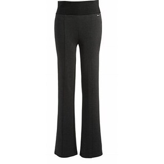 Calvin Klein NEW Charcoal Gray Womens Size Large L Stretch Casual Pants