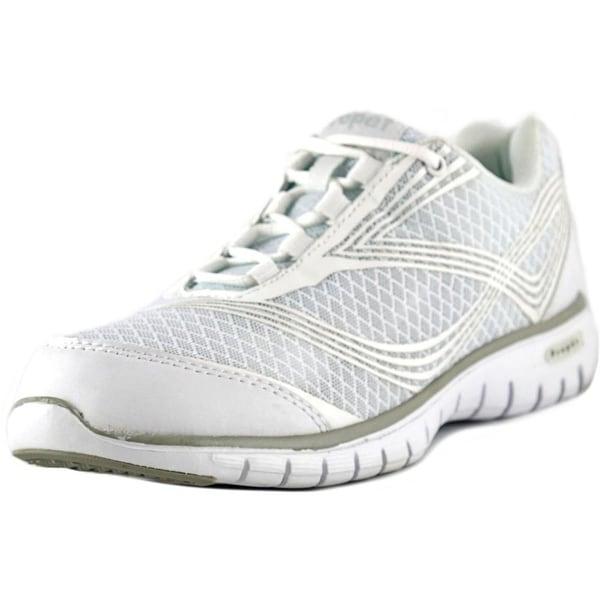 Propet Travellite Women White Running Shoes