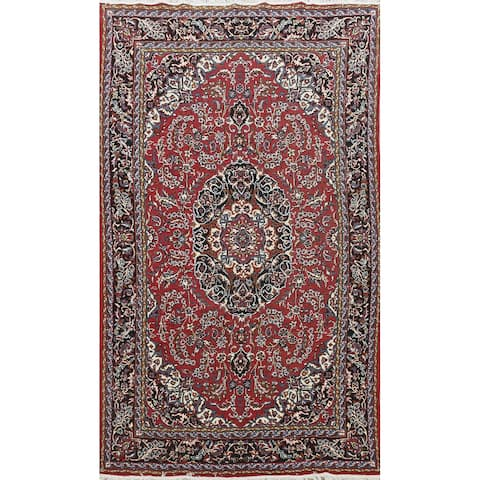 """Red Floral Traditional Kashan Oriental Area Rug Office Carpet - 6'3"""" x 9'7"""""""