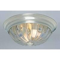 "Volume Lighting V7812 2 Light 13"" Flush Mount Ceiling Fixture with Clear Melon R"