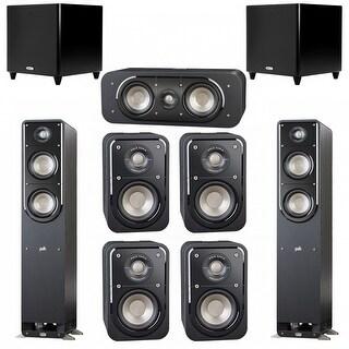 Polk Audio Signature 7.2 System with 2 S50 Speakers, 1 Polk S30, 4 Polk S10 Speakers, 2 Polk DSW PRO 550 wi Sub