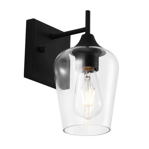 GetLedel 1-Light Modern Industrial Glass Wall Sconce