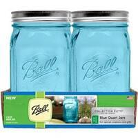 Quart - Elite Color Series Blue - Ball (R) Wide Mouth Canning Jars 4/Pkg