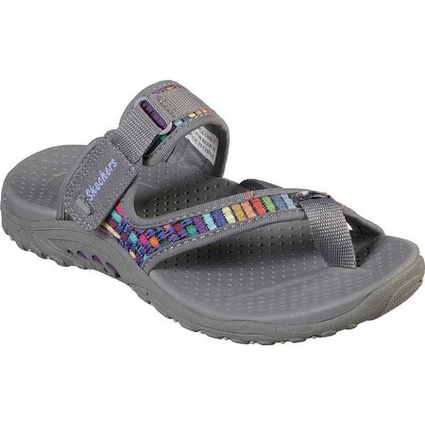 Skechers 48228//NVY Women/'s Reggae Zig Sway Navy Multi Sandals Size 9