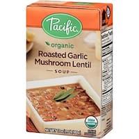 Pacific Natural Foods Mushroom Lentil Soup - Roasted Garlic - Case of 12 - 17 oz.