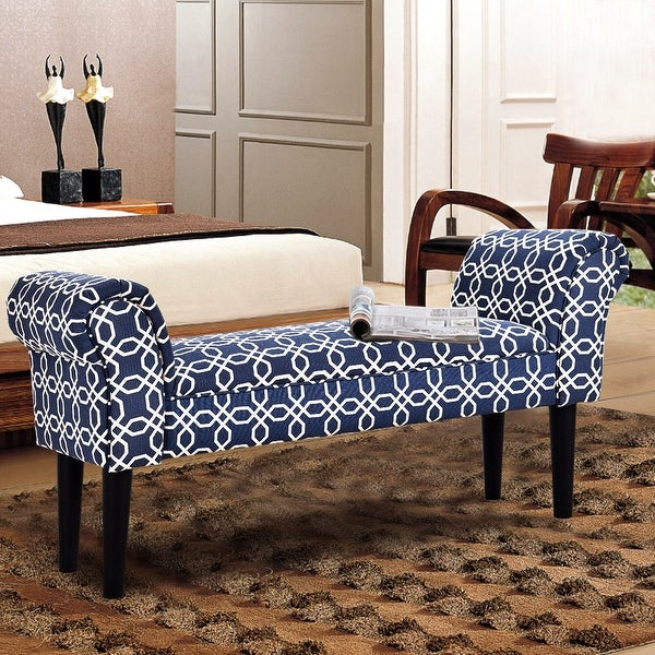 Foyer Settee Bed Bench : Costway upholstered armed bed benches for entryway