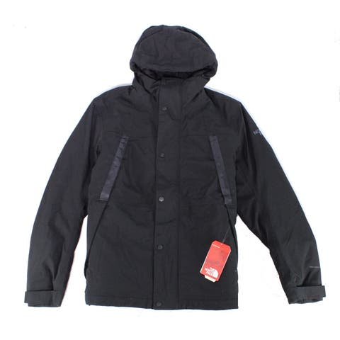 The North Face Mens Jacket Black Size Large L Hooded Rain Windbreaker