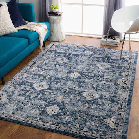 Vicky Traditional Floral Medallion Area Rug