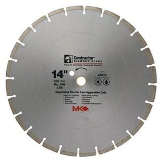 """MK Diamond 167019 Mk-99 Arbor Segmented Rim Diamond Blade, 14"""""""
