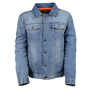 Mens Traditional Blue Denim Jacket
