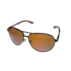Timberland Mens Sunglass Brown Metal Aviator Brown Solid Lens TB7119 48G - Medium