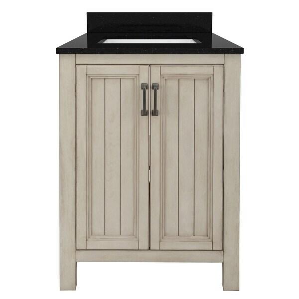 "Miseno MVAG2421 Helena 24"" Free Standing Single Basin Vanity Set with Wood Cabinet and Stone Vanity Top"