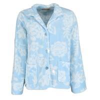 La Cera Women's Floral Plush Bed Jacket
