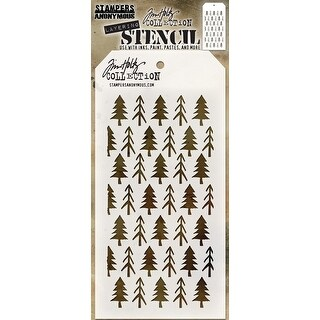 "Tim Holtz Layered Stencil 4.125""X8.5""-Pines"