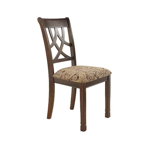 Leahlyn Dining Upholstered Side Chair, Medium Brown - Side Chair