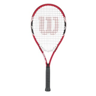 Wilson Federer Adult Strung Tennis Racket (Orange/Black/White/4 3/8)