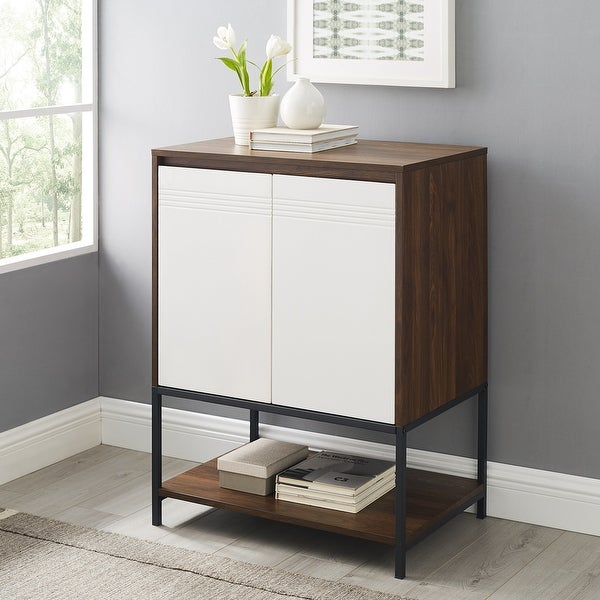 """Carson Carrington 24"""" 2-Door Accent Cabinet. Opens flyout."""