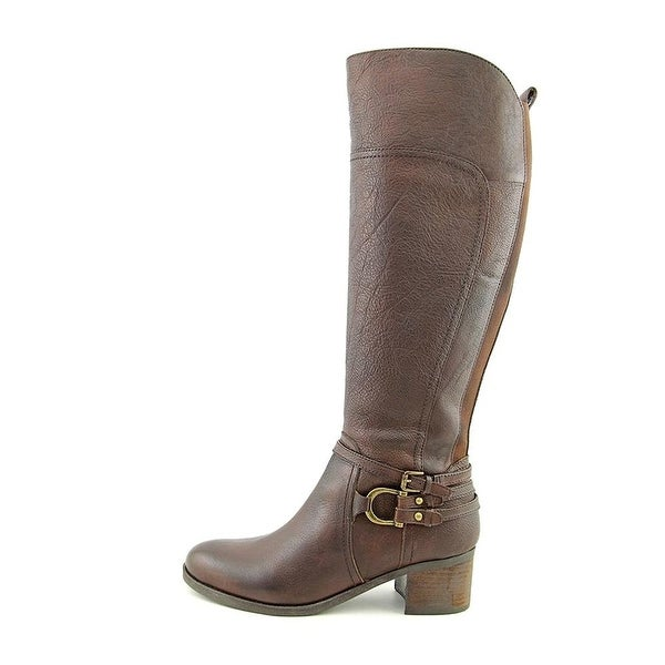 Marc Fisher Womens Kierra Leather Almond Toe Knee High Riding Boots