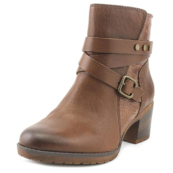 Naturalizer Ringer Women Round Toe Leather Brown Ankle Boot