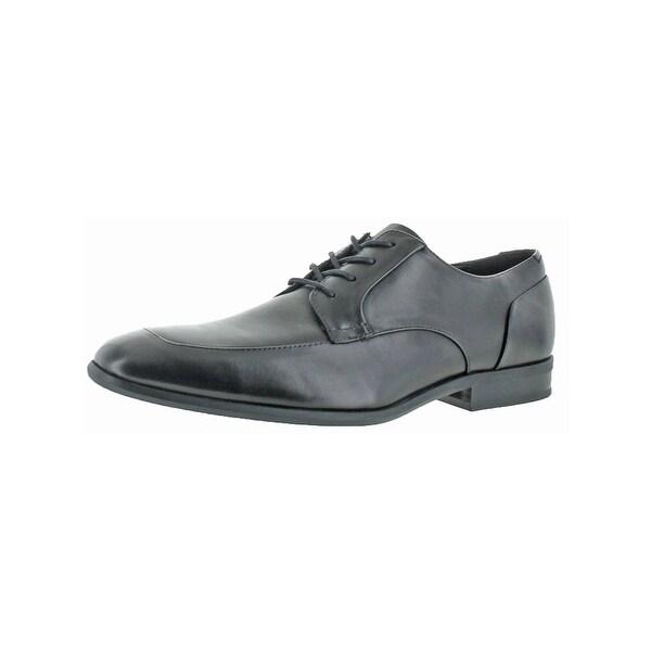Calvin Klein Mens Lazarus Derby Shoes Lace Up Apron Toe