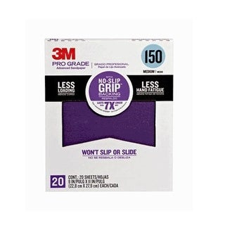 "3M 26150CP-P-G Pro Grade Advanced Sandpaper, 9"" x 11"", Grit 150"