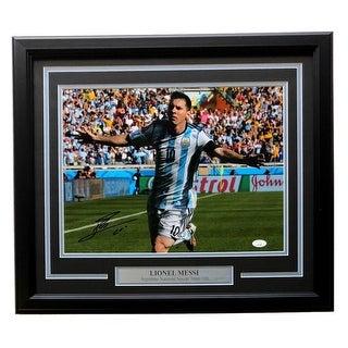 Lionel Messi Argentina Signed Framed 12x16 Photo JSA