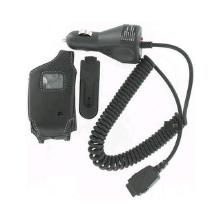 Leather Case & Car Charger for LG UX210 VX3400 VX3450