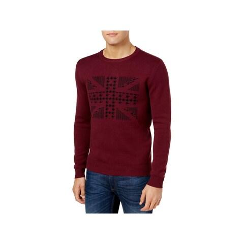 Ben Sherman Mens Pullover Sweater Chevron Graphic - S