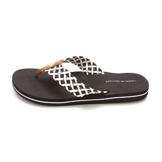 Tommy Hilfiger Womens CERLEY-X Split Toe Beach T-Strap Sandals