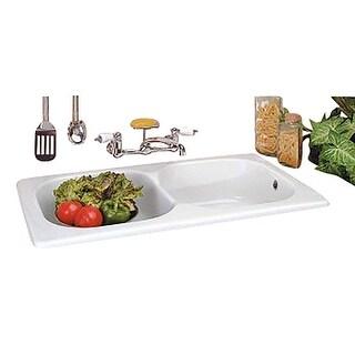 Kitchen Drop-In Counter Sink Italian Porcelain Double Basin Renovator's Supply