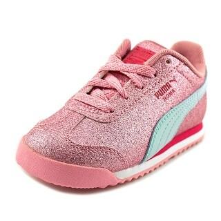 Puma Roma Glitz Glamm JR Round Toe Synthetic Sneakers|https://ak1.ostkcdn.com/images/products/is/images/direct/abd65dfa2eaf85ffc142709752f91f56f08634f3/Puma-Roma-Glitz-Glamm-JR-Toddler-Round-Toe-Synthetic-Pink-Sneakers.jpg?_ostk_perf_=percv&impolicy=medium