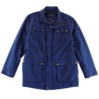 Club Room NEW Solid Navy Blue Mens Size 2XL Full-Zip Field Jacket