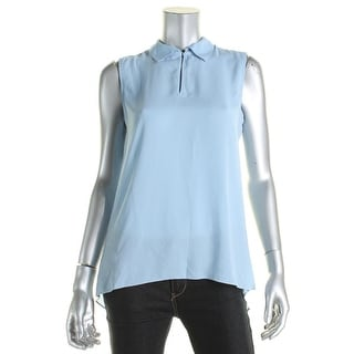 Vince Camuto Womens Pullover Top Sleeveless Keyhole