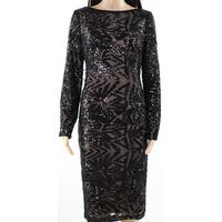 Lauren By Ralph Lauren Womens Sequined Sheath Dress