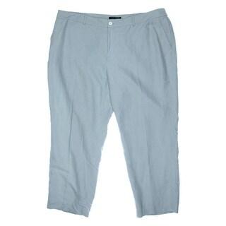 Lauren Ralph Lauren Womens Plus Silk Slub Dress Pants - 16W