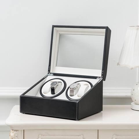 Watch Winder Storage Case Auto Display Case Box Automatic Rotation