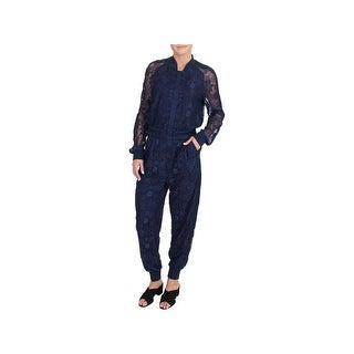 Juicy Couture Black Label Womens Kendall Jumpsuit Lace Jogger