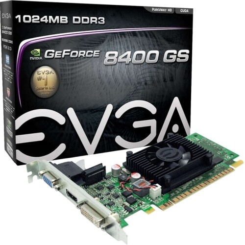 """EVGA Corporation 01G-P3-1302-LR EVGA 01G-P3-1302-LR GeForce 8400 GS Graphic Card - 520 MHz Core - 1 GB DDR3 SDRAM - PCI Express"