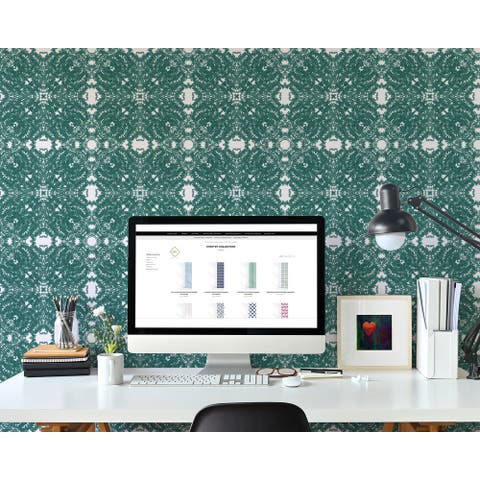 SBC Decor Coffee Break Removable Peel & Stick Vinyl Wallpaper Panel