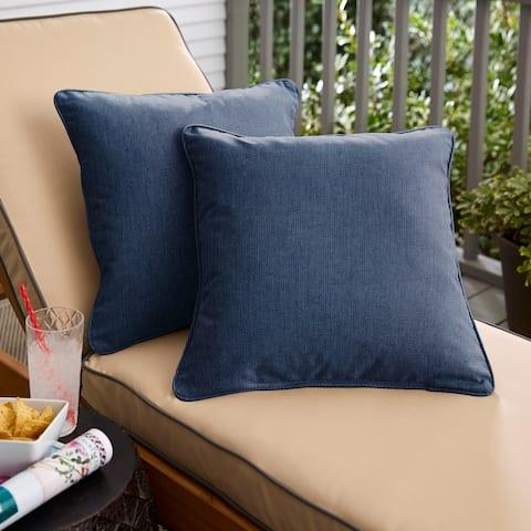 Sunbrella Spectrum Indigo Corded Indoor/ Outdoor Pillow Set (Set of 2)