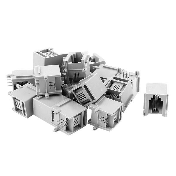 20Pcs Push in RJ11 4P4C Telephone Modular PCB Jacks Sockets Connectors Plugs