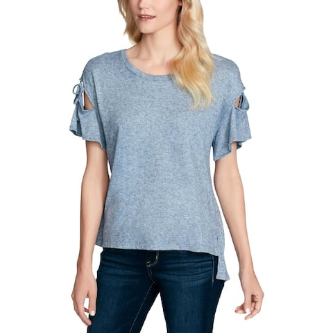 Jessica Simpson Womens Casual Top Cut-Out Shoulder Tie - S