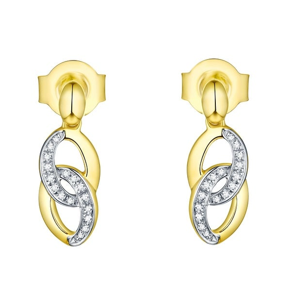 Prism Jewel 0.05CT Round Cut Natural G-H/I1 Diamond Push Back Earring - White G-H