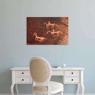 Easy Art Prints Michel Hersen's 'Petroglyph' Premium Canvas Art